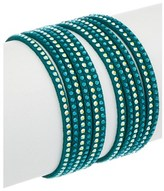 Swarovski Crystal Slake Leather Wrap Bracelet.