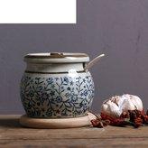 FSHFK ceramic Spice jar set/The cruet/ salt sugar/seasoig box/ bottle of viegar pots of spicy/ kitche supplies