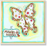 Stupell Industries The Kids Room by Stupell Miracles Do Happen Polka Dot Butterfly Square Wall Plaque