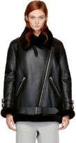 Acne Studios Black Shearling Velocité Jacket