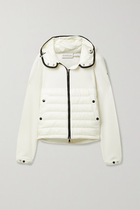 Moncler Hooded Quilted Shell Down And Wool Jacket