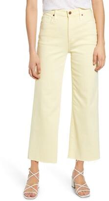 AG Jeans Etta High Waist Crop Raw Hem Wide Leg Jeans