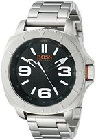 HUGO BOSS BOSS Orange Men's 1513161 Sao Paulo Stainless Steel Bracelet Watch with Black Dial