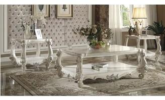 Astoria Grand Maio Versailles 3 Piece Coffee Table Set Astoria Grand Color: Bone White