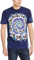 The Mountain Men's Grumpy Cat Spiral Adult T-Shirt