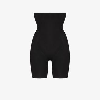 Spanx Black Thinstincts high waist mid-thigh shorts