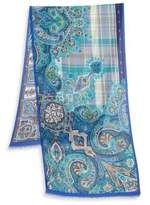 Etro Printed Cashmere Blend Scarf