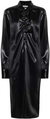 Bottega Veneta Lacquered satin shirt dress