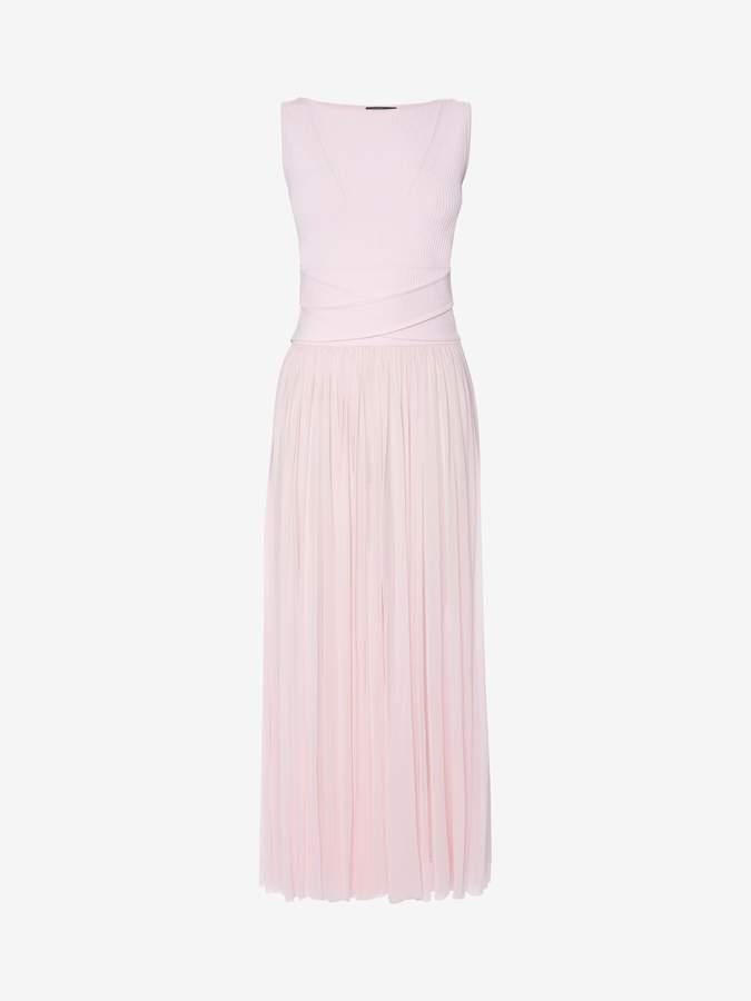 Alexander McQueen Trompe L'Oeil Midi Dress