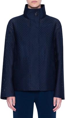 Akris Punto Circle Lace Zip-Up Jacket