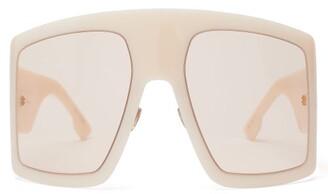 Christian Dior Diorsolight1 Oversized Acetate Sunglasses - Womens - White