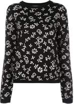 Sandy Liang floral knit jumper