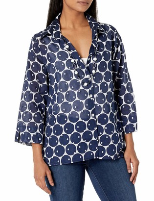 Alfred Dunner Women's Two-for-One Dot Shirt