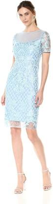 Jax Women's Lace Shift Dress with Illusion Neck