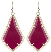 "Kendra Scott Signature"" Alex Gold plated Maroon Jade Drop Earrings"