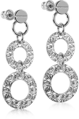 Rebecca R-ZERO Rhodium Over Bronze Pendant Earrings