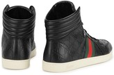 Gucci Gg Black Leather Hi-top Trainers