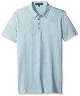 Robert Barakett Men's Ludwig Short Sleeve 4 Button Polo