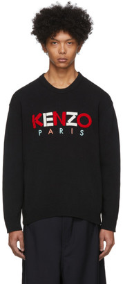 Kenzo Black Paris Knit Sweater