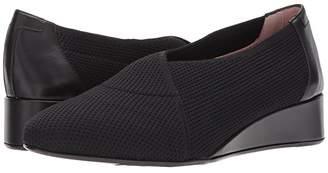 Taryn Rose Celeste by Collection (Black Stretch Knit) Women's Slip-on Dress Shoes
