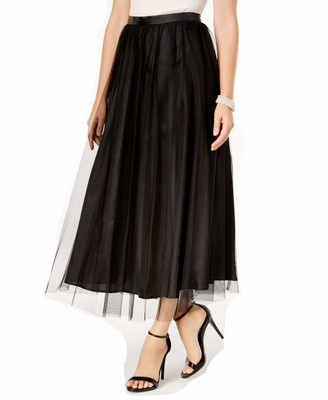 Alex Evenings Women's Long A-line Chiffon Skirt