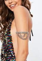 Missguided Silver Multi Row Chain Arm Cuff