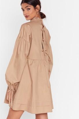 Nasty Gal Womens If You Never Tie High Neck Mini Dress - Stone