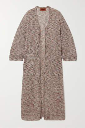 Missoni Striped Crochet-knit Cotton Cardigan - Beige