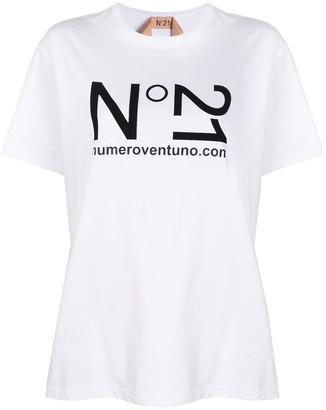 No.21 printed logo T-shirt