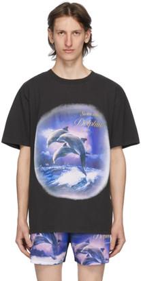 Han Kjobenhavn Black Swim With Dolphins T-Shirt