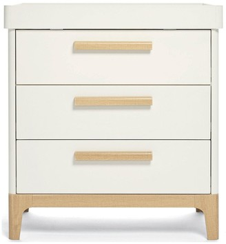 Mamas and Papas Caprio Furniture Range Wardrobe, Cot & Dresser - White/Natural