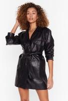 Nasty Gal Get It Together Faux Leather Blazer Dress