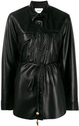 Nanushka Eddy vegan leather shirt