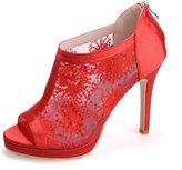 Monie Women's Sequins Embroidery Prom Dress Shoes Stiletto Bridal Bridesmaid Sandals 6B US