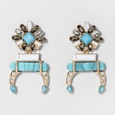 BaubleBar SUGARFIX by Mixed Media Squash Blossom Drop Earrings - Turquoise/Gold