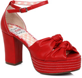Bettie Page Red Jessy D'Orsay Pump