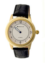 Heritor Automatic Hoyt One-Hand Mens Leather-Gold/Silver Watches
