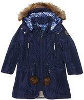 Pampolina Girl's Mantel Mit Abnehmbarer Kapuze Jacket