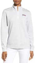 Vineyard Vines Women's Shep Stripe Jacquard Quarter Zip Pullover