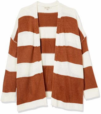 Forever 21 Women's Plus Size Striped Print Cardigan