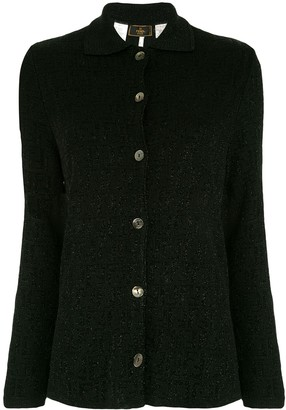 Fendi Pre-Owned Zucca monogram glitter cardigan