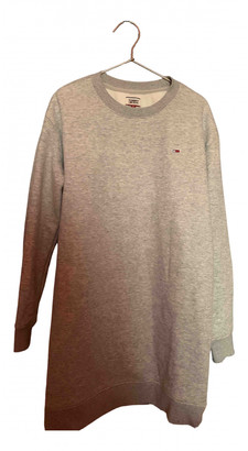Tommy Jeans Grey Cotton Dresses
