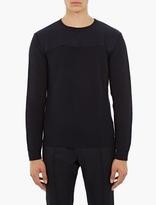 Valentino Navy Ribbed Wool Sweater