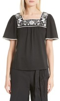 Kate Spade Women's Soft Joie Embroidered Top