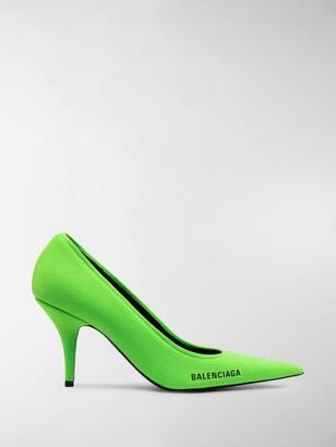 Balenciaga Fluro Knit Pumps