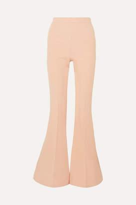 Safiyaa Halluana Stretch-crepe Flared Pants - Blush