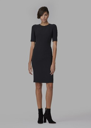 Giorgio Armani Milano-Knit Jersey Dress With Side Pleats