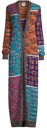 M Missoni Patchwork Mohair-Blend Duster Cardigan
