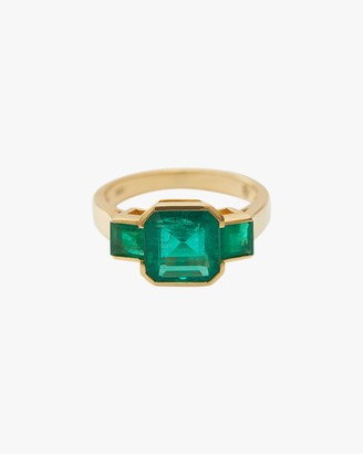 Yi Collection One-of-a-Kind Emerald Deco Ring