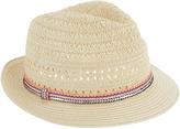 Accessorize Vivian Braid Trim Trilby Hat